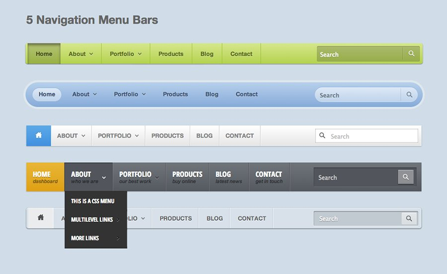 Bootstrap menu bar templates phpsourcecodenet for Html side menu bar template