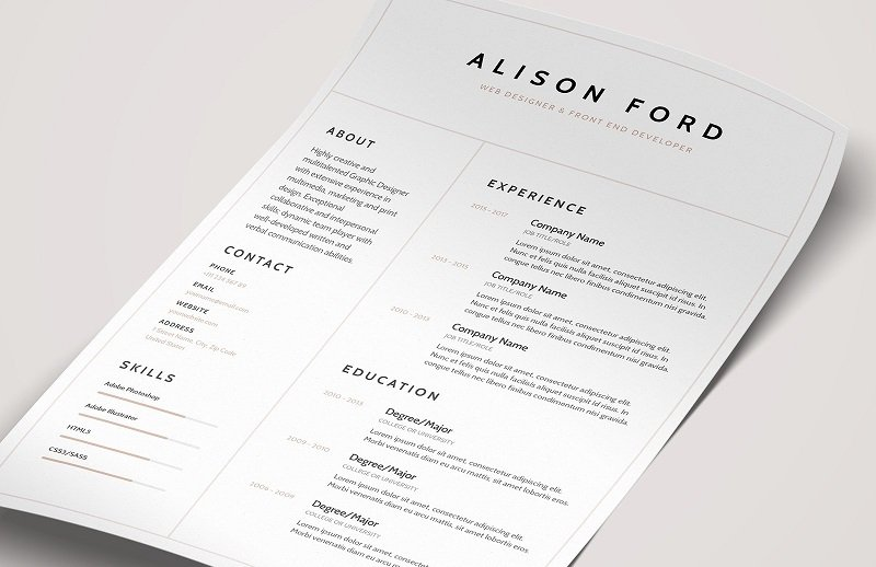 Beautiful Resume Templates from img.glyphs.co