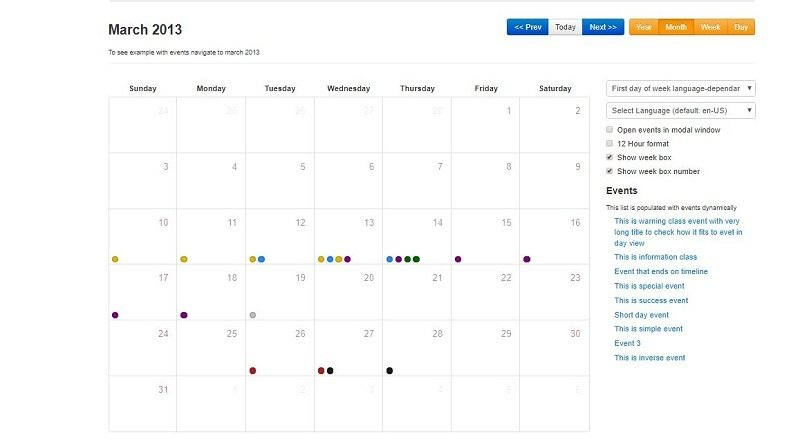 16 Bootstrap Calendar Templates to Plug & Play — Medialoot