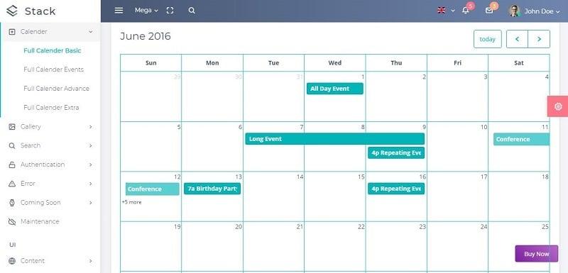 16 Bootstrap Calendar Templates to Plug & Play — Medialoot