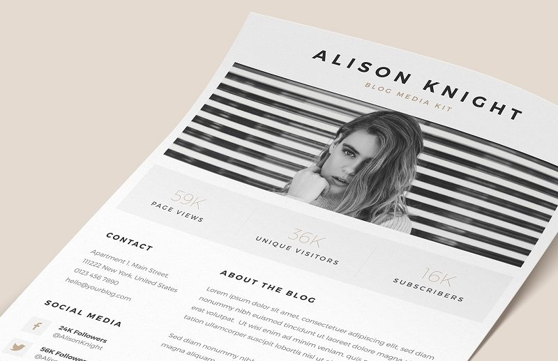 22 Free Media Kit Templates to Pitch Your Brand — Medialoot