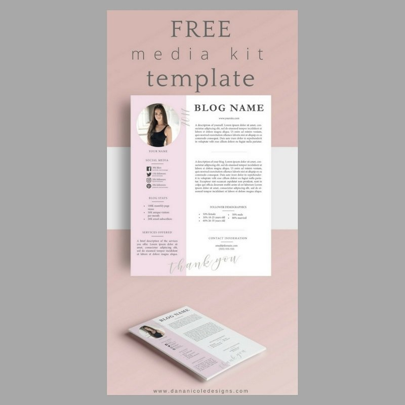 sometimes simplicity is best which is why we adore this media kit designed by dana nicole the contemporary template has space for all your information
