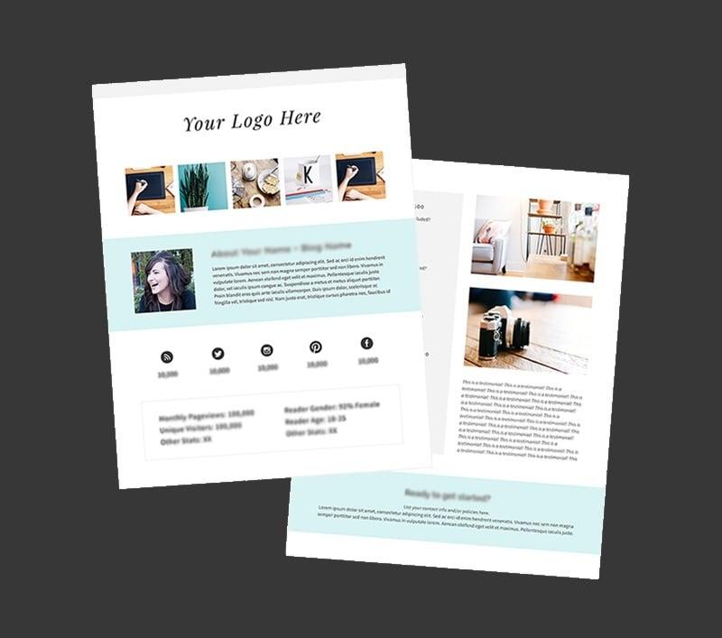 22 free media kit templates to pitch your brand medialoot free media kit for your blog by melyssa griffin maxwellsz