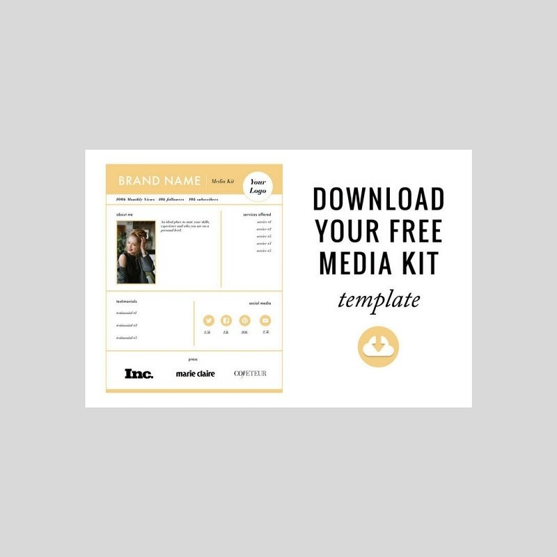 22 free media kit templates to pitch your brand medialoot