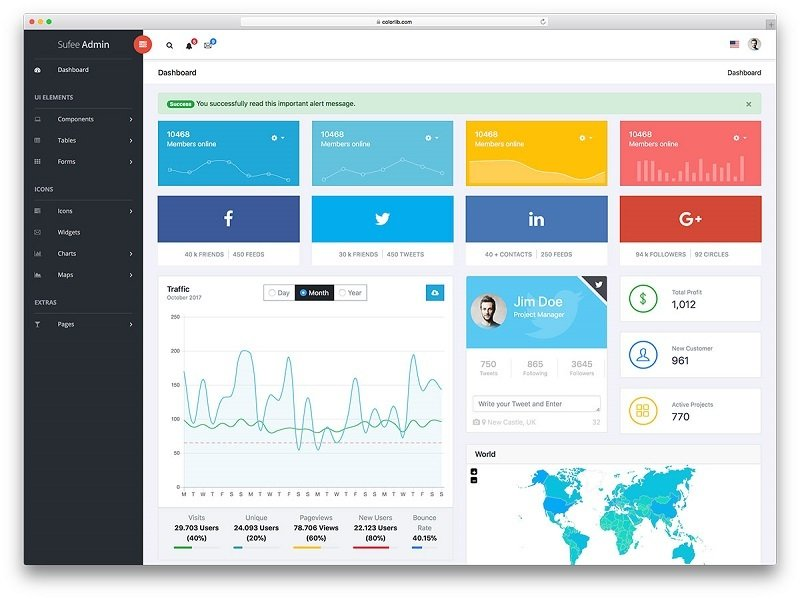 Top 11 Free & Premium Bootstrap Dashboards of 2019 — Medialoot