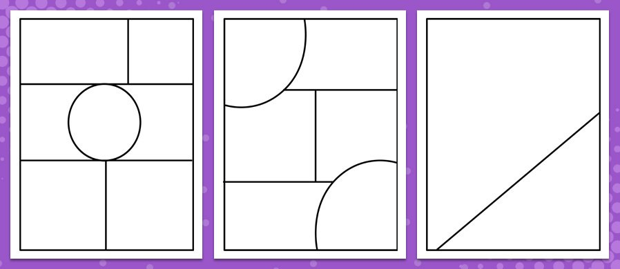 A Small Printable Pack For Those Kids That Are Aspiring To Be Comic Book Artists It Is Single Pdf File With 4 Unusual Strip Layouts And