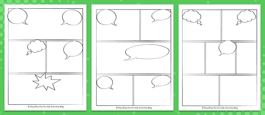 Comic book template pdf image collections template for Comic strip template maker