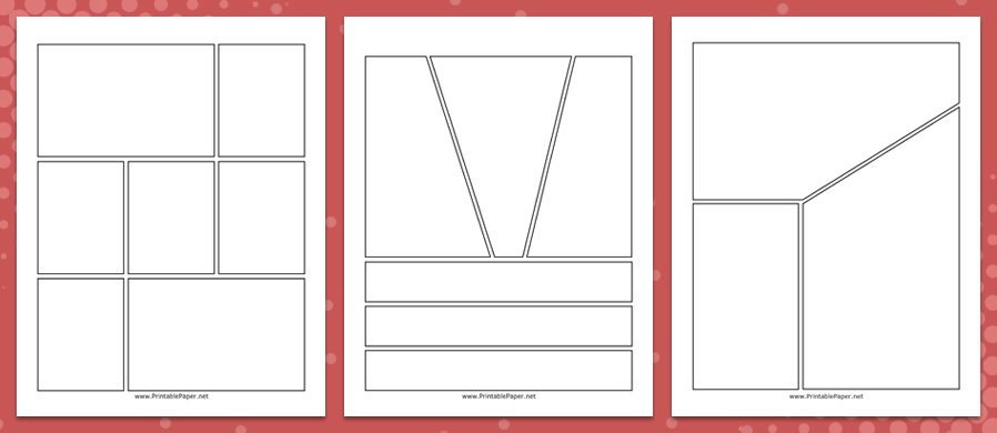 10 Diffe Comic Strips Templates Available As Individual Pdf Files