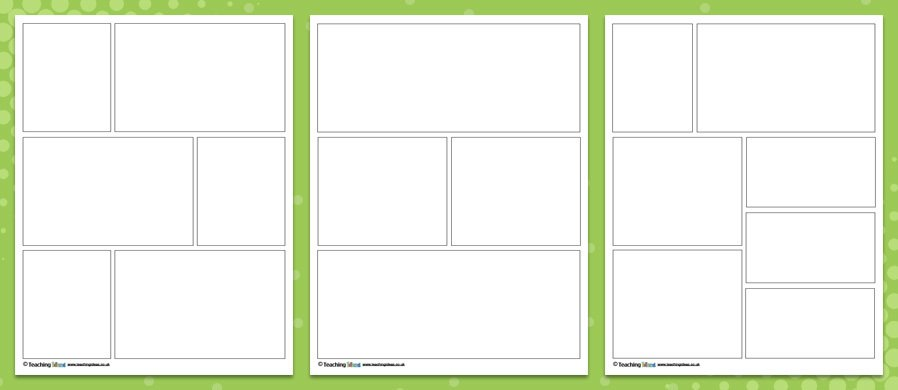 Comic book template pdf images template design ideas for 2 125 x 1 6875 label template
