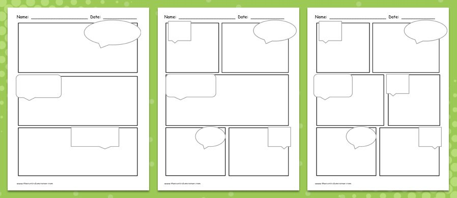 With 7 Diffe Layouts And Without Sch Bubbles These Printable Comic Strips Are Available As Individual Pdf Files Ready To Be Printed