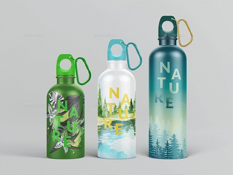 22 Gorgeous and Pure Water Bottle Mockups — Medialoot