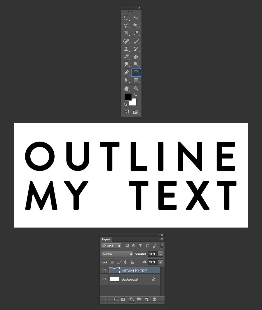 How to Easily Outline Text in Photoshop — Medialoot