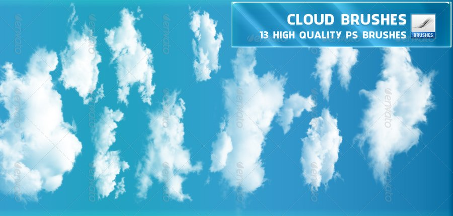 20 Stunningly Realistic Cloud Brushes for Photoshop, free and