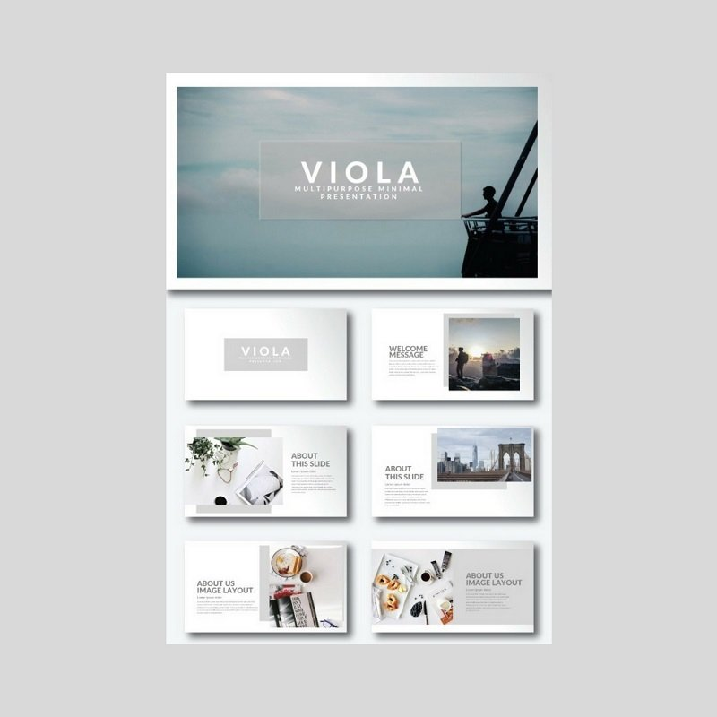 Simple clean minimalist keynote templates for amazing youll love the modern and simplistic style of the viola keynote presentation template by keeping the divisions on slides clean and straight toneelgroepblik Image collections
