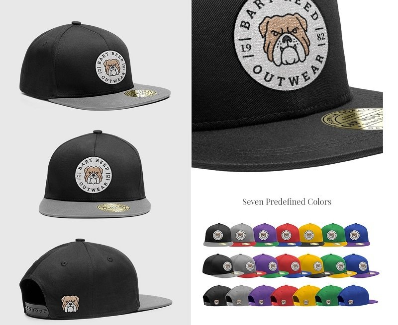 16dddefc2 22 Snappy Hat Mockups to Cap Off Your Design — Medialoot