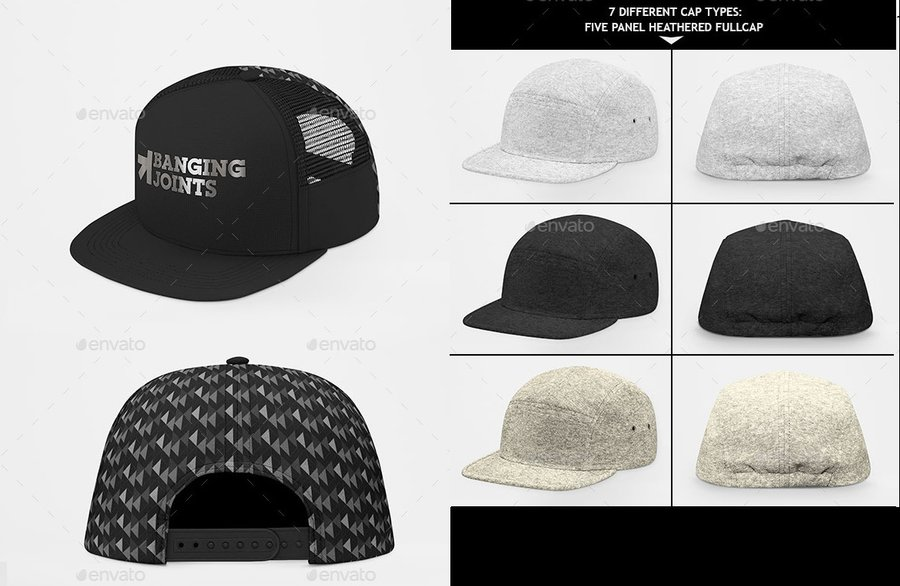 705d1fa9697e0 22 Snappy Hat Mockups to Cap Off Your Design — Medialoot