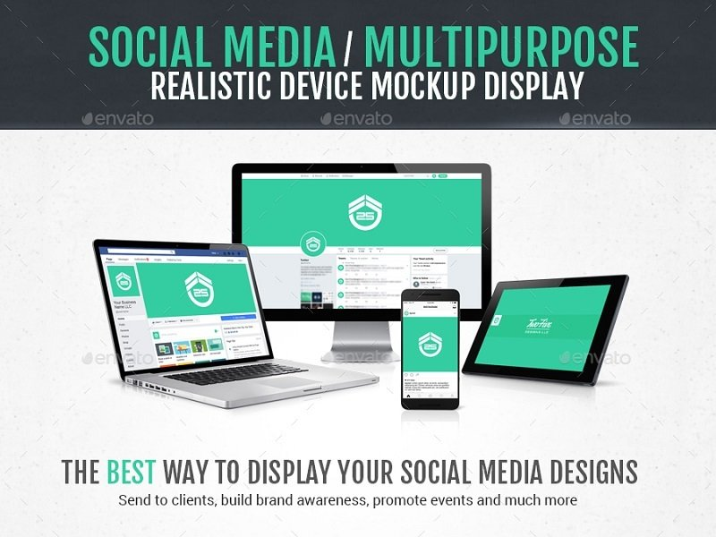 12 Social Media Mockups to Show off Your Posts in Style — Medialoot