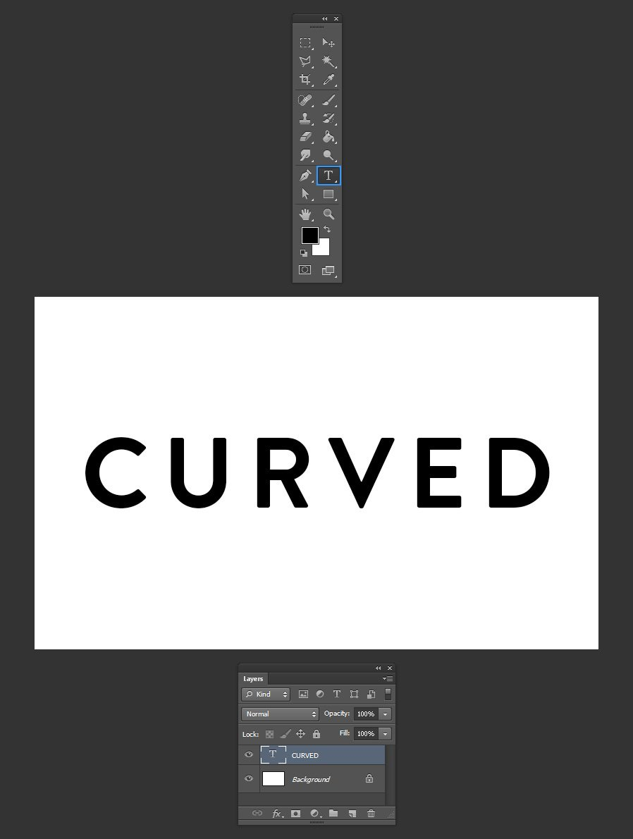 Three Ways To Curve Text In Photoshop Medialoot