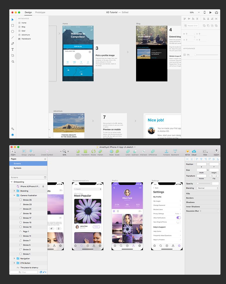 Why Adobe XD and Sketch are not Competitors (but InVision