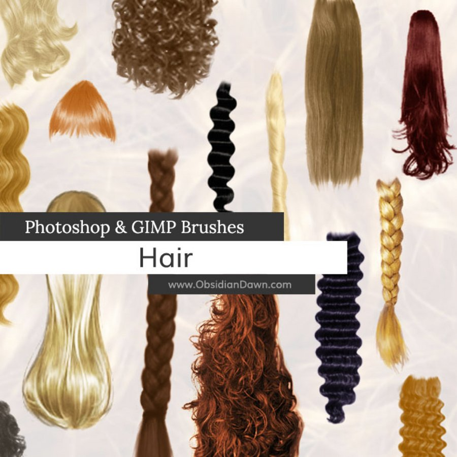 30 gorgeous hair brushes for photoshop — medialoot
