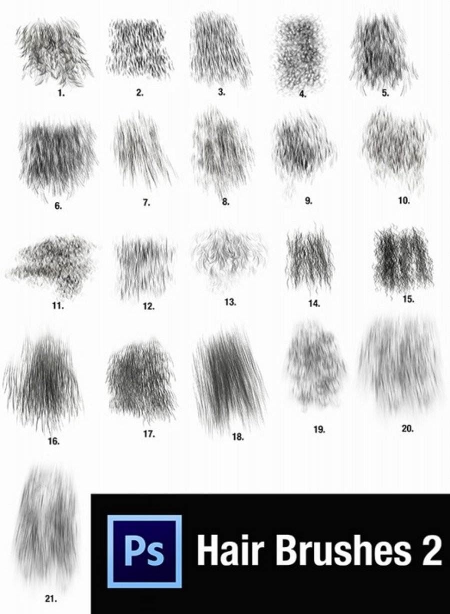 30 Gorgeous Hair Brushes For Photoshop Medialoot