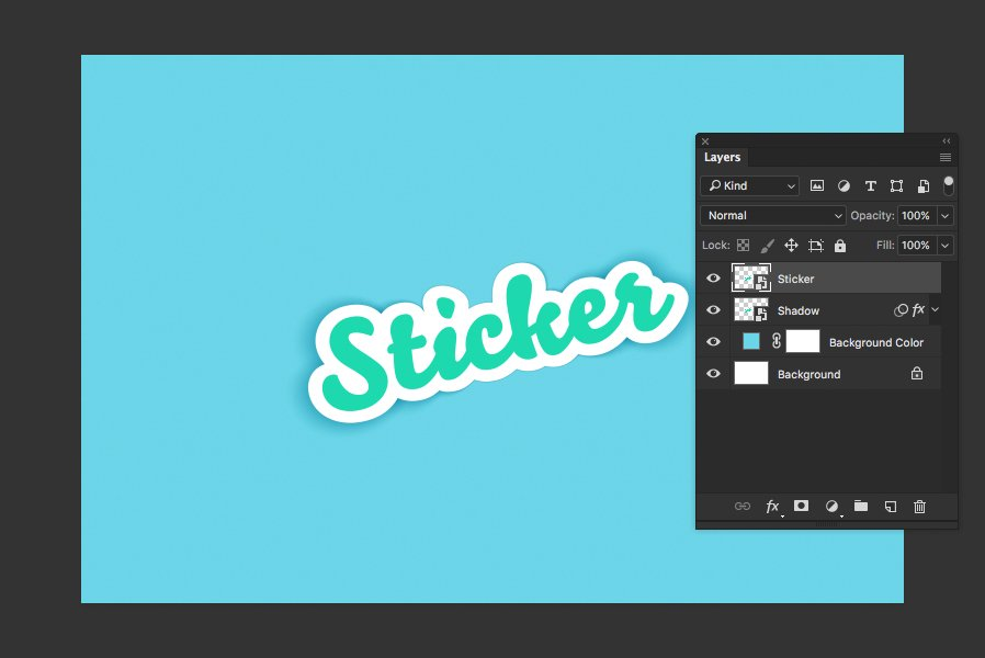 Free Download] How to Create a Sticker Mockup with Photoshop — Medialoot