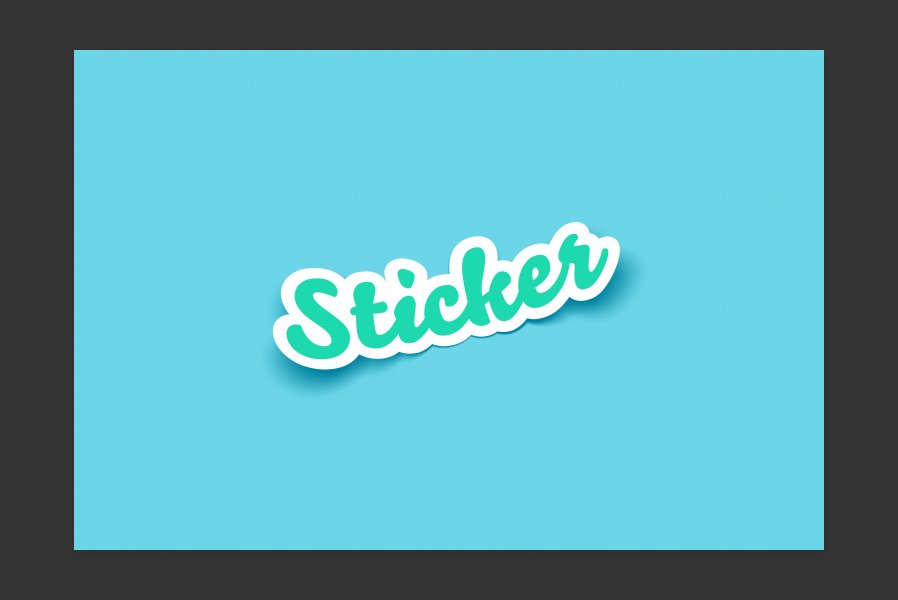 Sticker mockup for photoshop