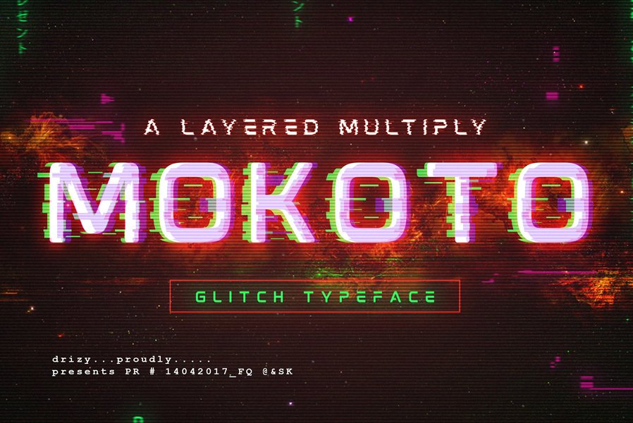39c143ae999 10 Best Glitch Fonts   Effects of 2018 — Medialoot