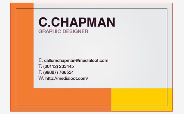 How to create a colorful business card template in illustrator cs4 artboard containing the back of your business card remember to play around with different sizes and leadings i used a combination of helvetica bold reheart Images