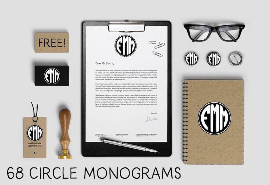12 Circle Monogram Font Styles To Love and Download — Medialoot