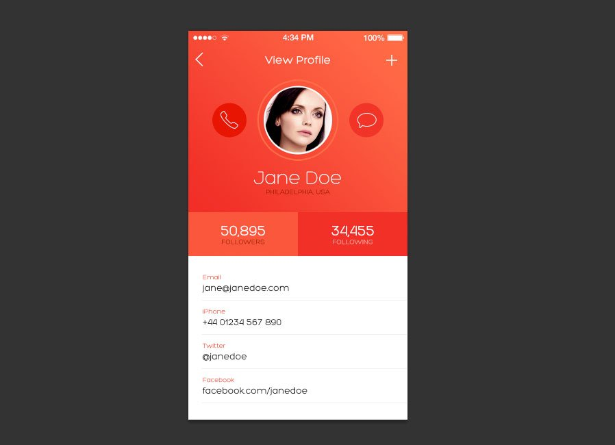 How to Design an iOS 7 inspired iPhone App Screen — Medialoot