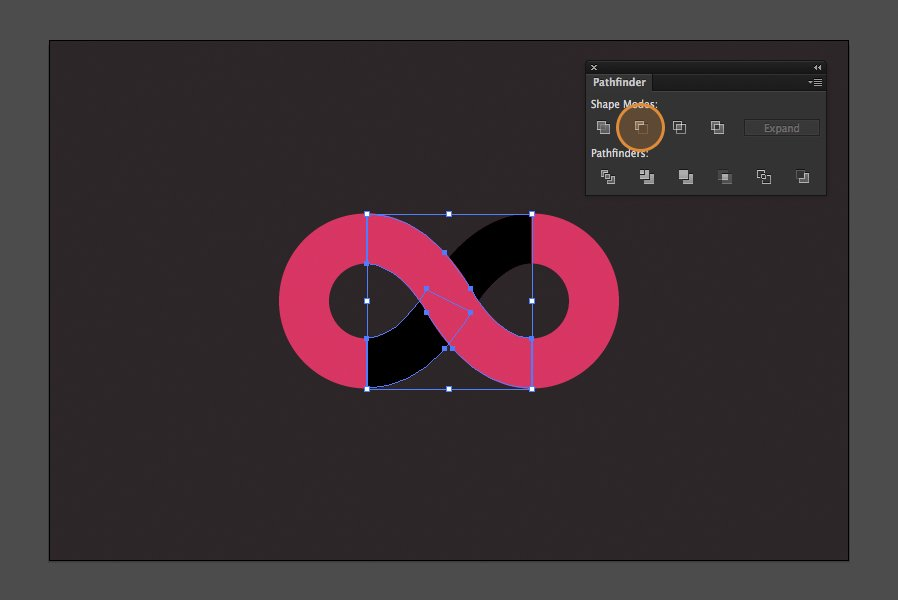 How To Create An Infinite Loop Symbol With Illustrator Medialoot