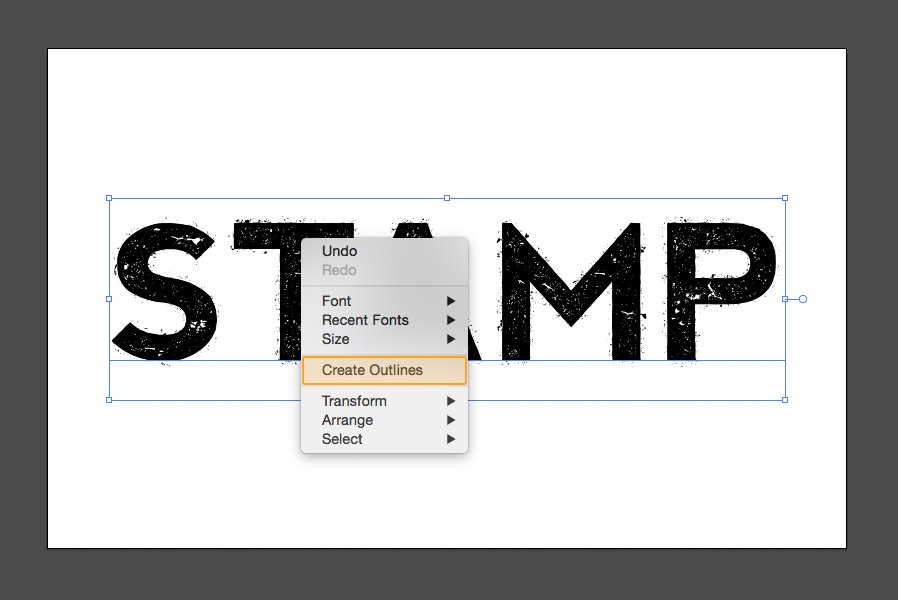 How to Create an Ink Stamp Text Effect with Illustrator CS6 — Medialoot