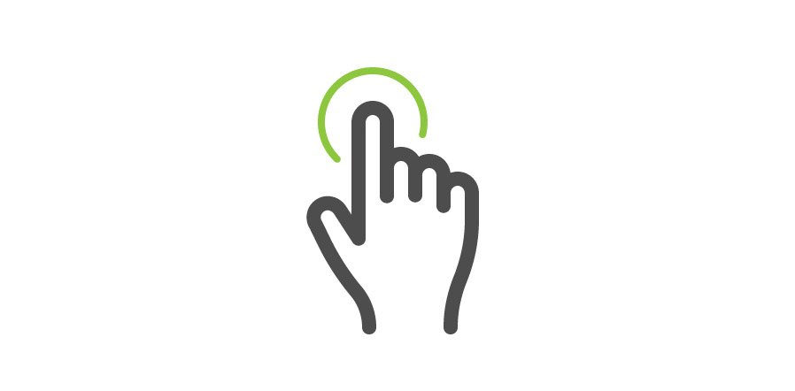 How to Draw a Multi-Touch Tap Gesture Vector Icon — Medialoot