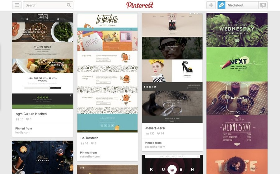 8 Best Web Design Inspiration Pinterest Boards — Medialoot