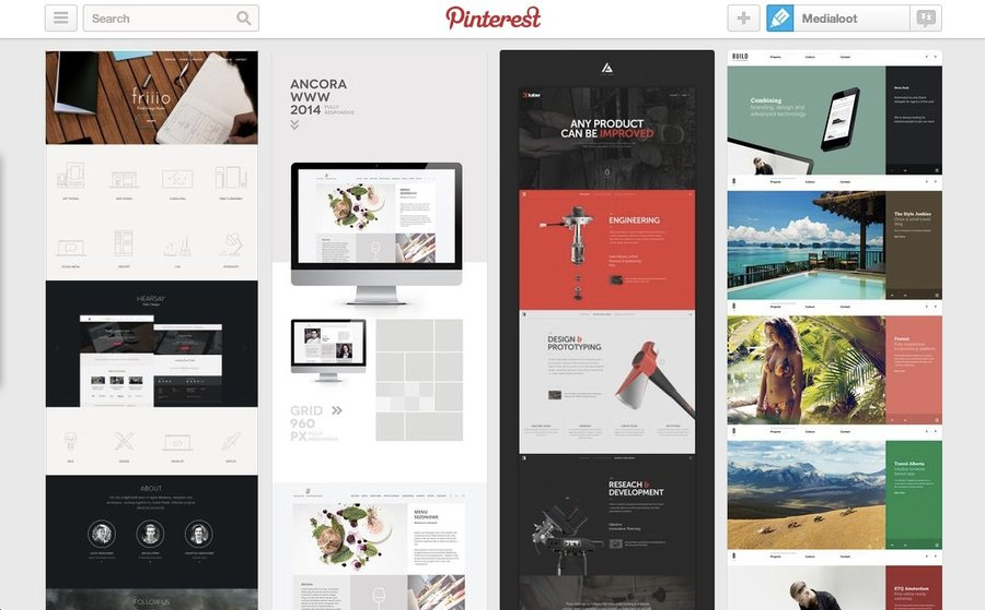 8 Best Web Design Inspiration Pinterest Boards Medialoot