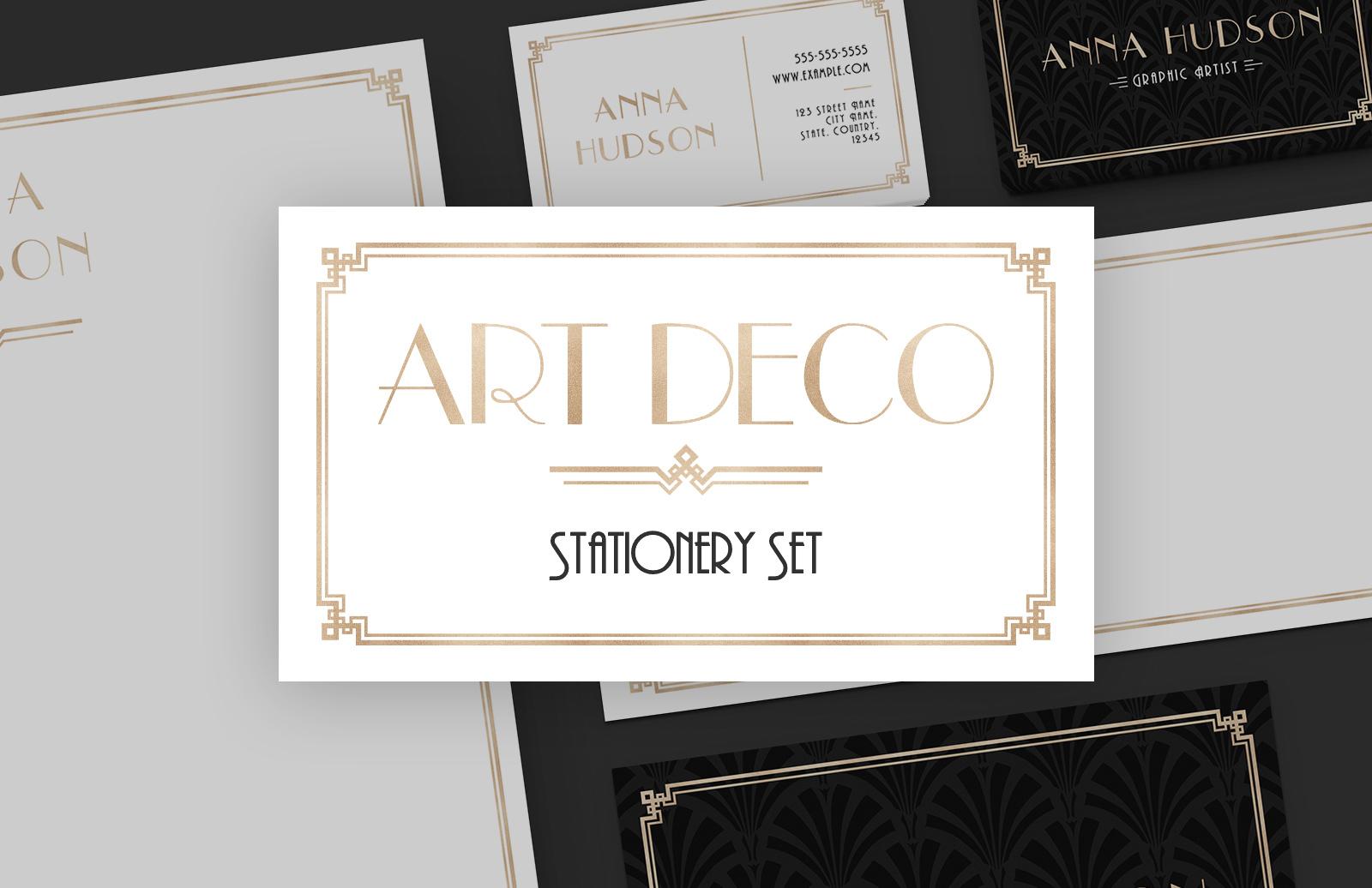 Art Deco Stationery Set