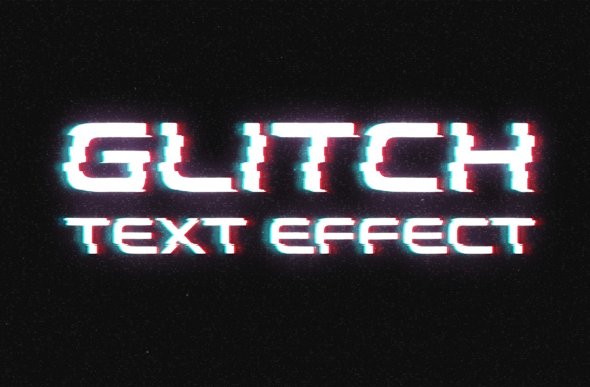 Glitch Text Effect for Photoshop