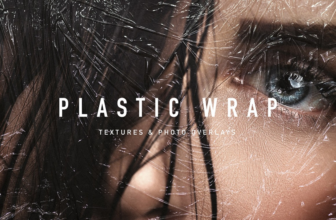 Plastic Wrap Textures & Photo Overlays
