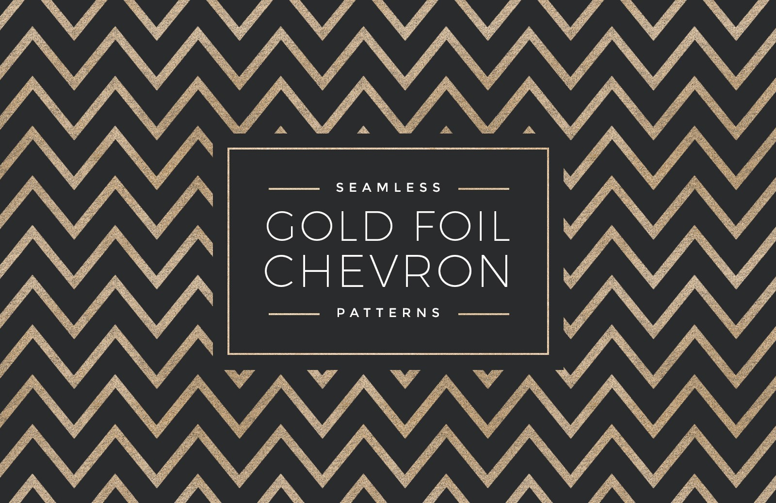 Seamless Gold Foil Chevron Patterns