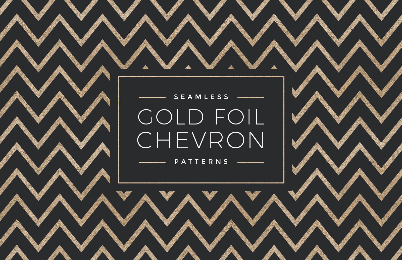 Seamless Gold Foil Chevron Patterns