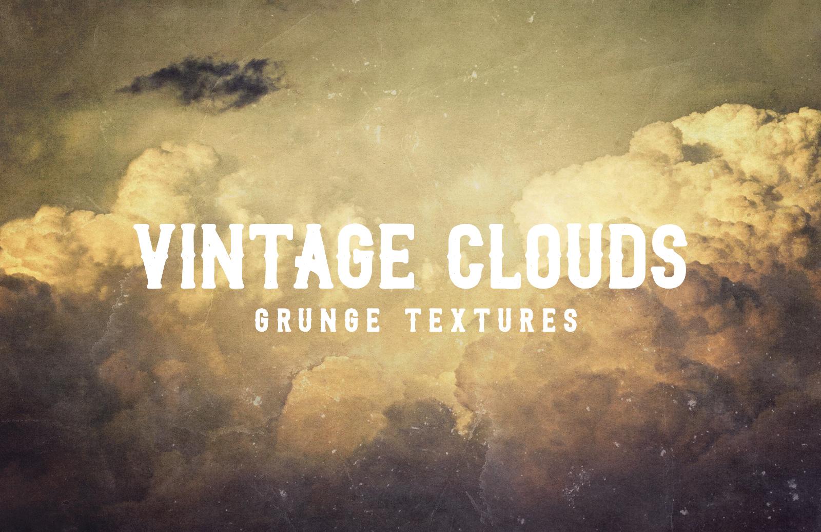 Vintage Clouds Grunge Textures