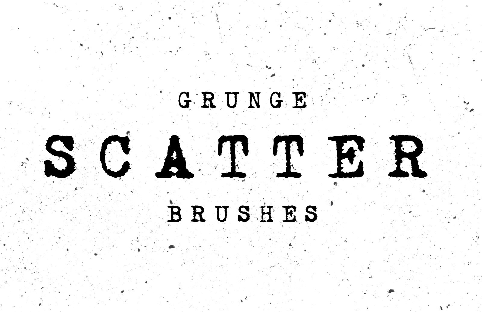 Grunge Photoshop Scatter Brushes