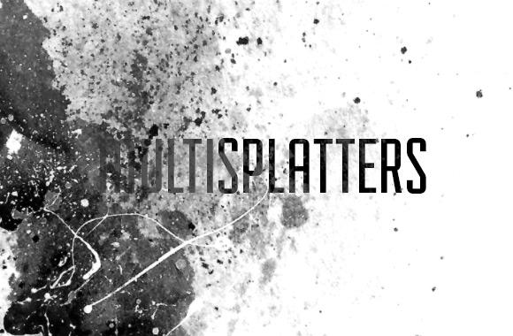 MultiSplatters Photoshop Brush Set