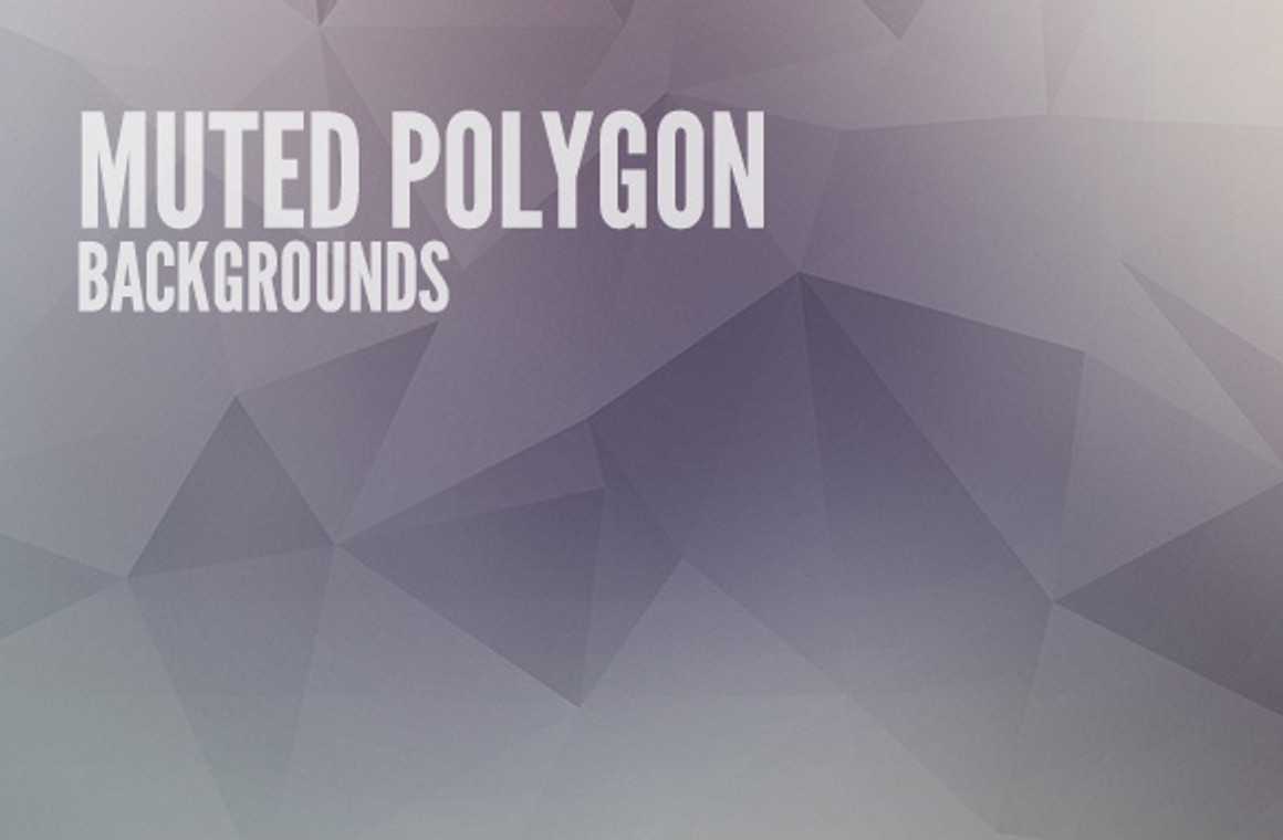 Muted Polygon Backgrounds