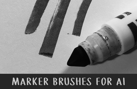 Marker Brushes for Illustrator