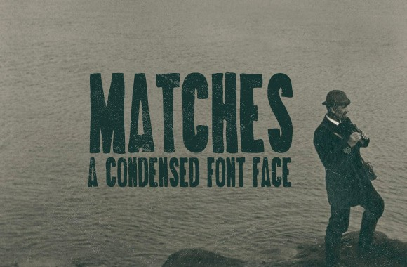 Matches - A Hand Drawn Condensed Font