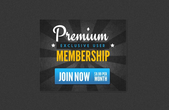 Premium Membership - Web Banners PSD Collection