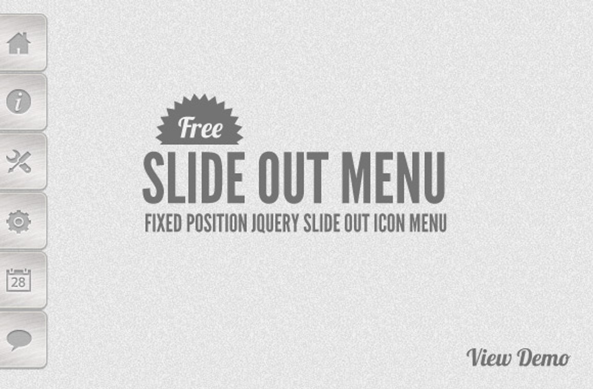 Free jQuery Smooth Slide Out Menu