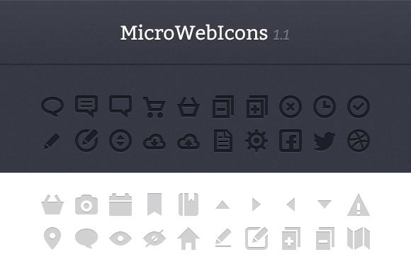 MicroWebIcons 1.2 - Retina Ready